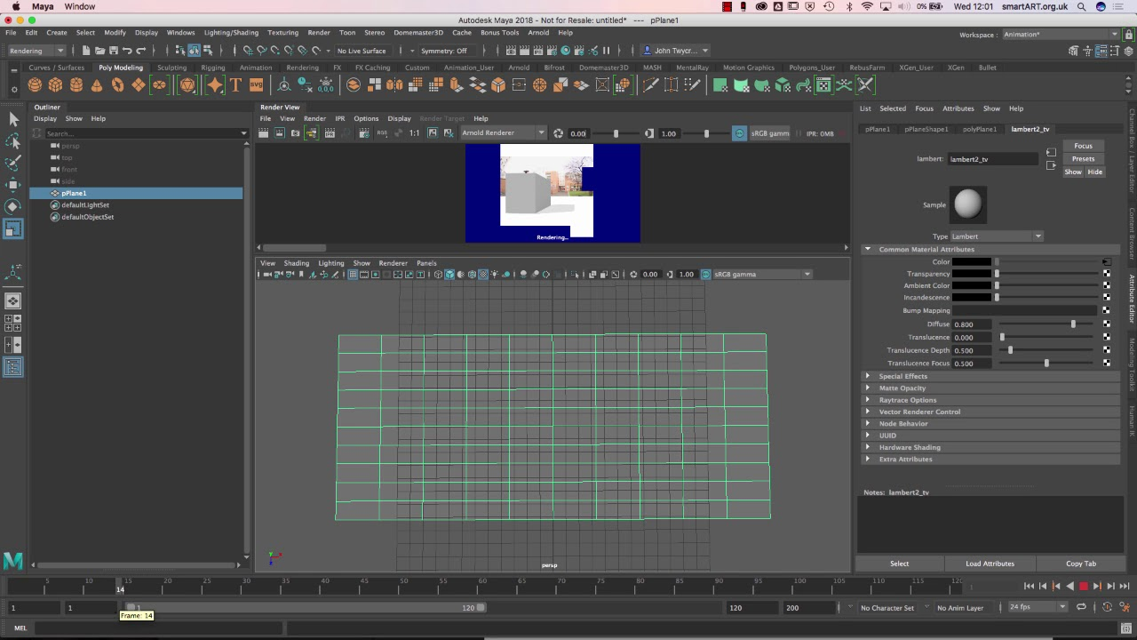 2019 Using an Image Sequences as a Texture in Maya