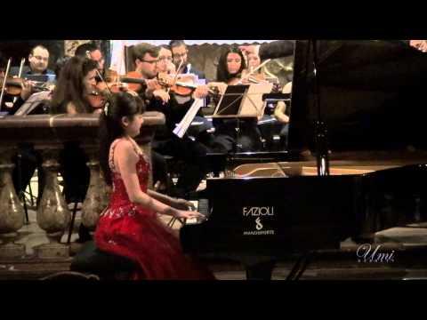 Umi Garrett, 13 yr. - Chopin Piano Concerto No. 1 in e minor 1st Mvmt. (Short vr.)