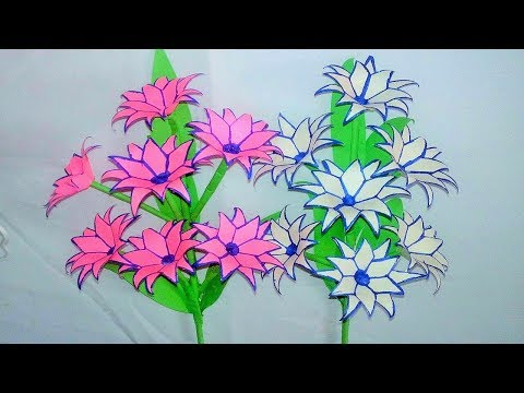 Origami Paper, paper flowers, Very Easy Paper Flowers Decoration at home