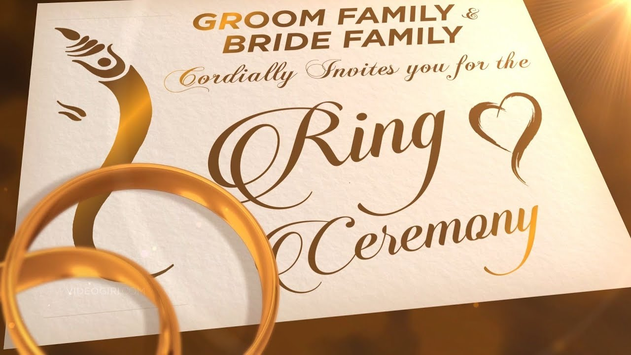 Ring Ceremony Invitation Video 2020 Engagement Invitation Video Vg 739