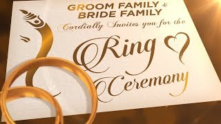Ring ceremony invitation video 2020 | Engagement Invitation Video | VG-739
