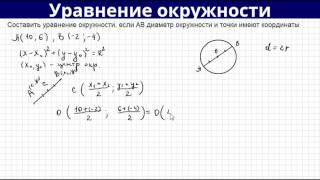 Составляем уравнение окружности