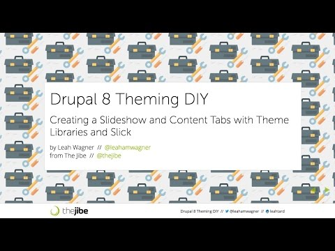 Creating your own Slideshow and Content tabs in Drupal 8