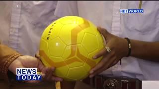 PRD donates sports equipment to Samut Songkhram school