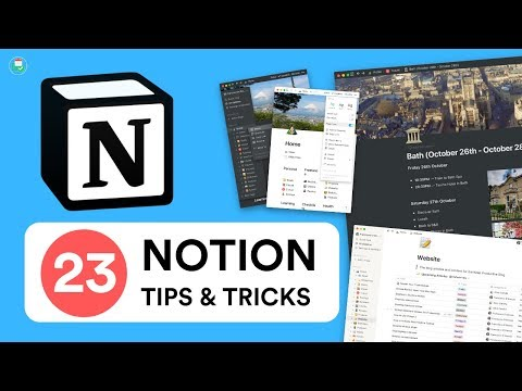 23 Notion Tips, Hacks & Tricks