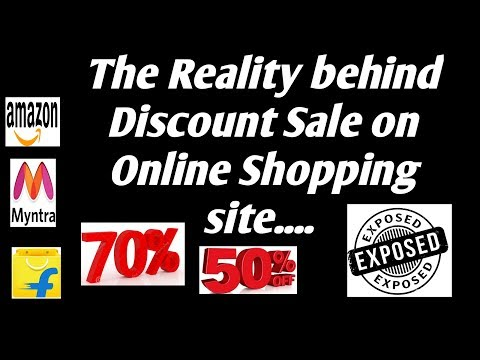 The Reality behind Discount Sale on Online Shopping Site_Exposed_Explained_Proved