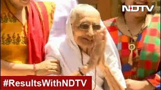 Election Results 2019: BJP Supporters Congratulate PM Modi's Mother In Gandhinagar
