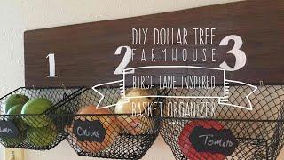 DIY Dollar Tree  Birch Lane Inspired Farmhouse Baskets