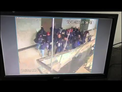 CCTV footage emerges of floor collapse at Indonesia Stock Exchange