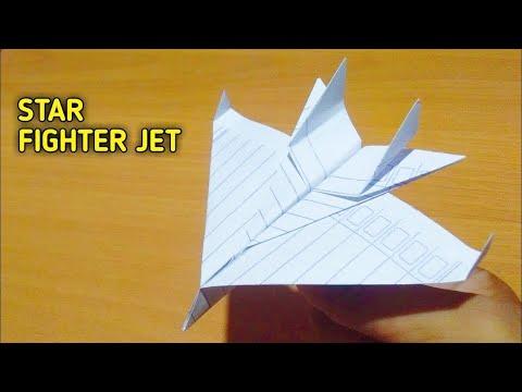 ORIGAMI PESAWAT KERTAS - GAMPANG BANGET CARA MEMBUAT JET TEMPUR F15    paper plane fighter jet F 15.