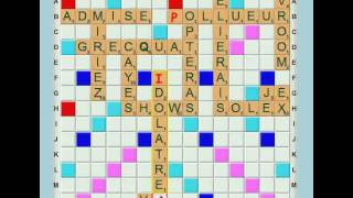 Scrabble, mode Topping : exemple