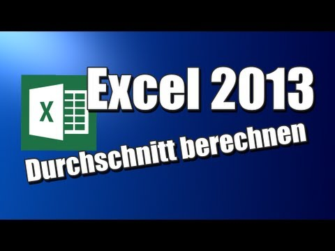 durchschnitt berechnen excel 2013 youtube. Black Bedroom Furniture Sets. Home Design Ideas