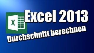 Durchschnitt berechnen - Excel 2013