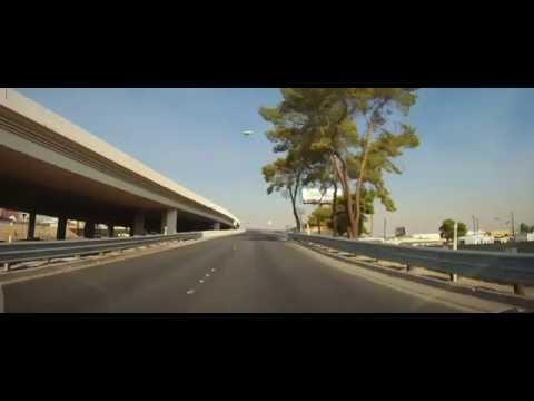Driving from Las Vegas through Arizona to Utah on Interstate 15
