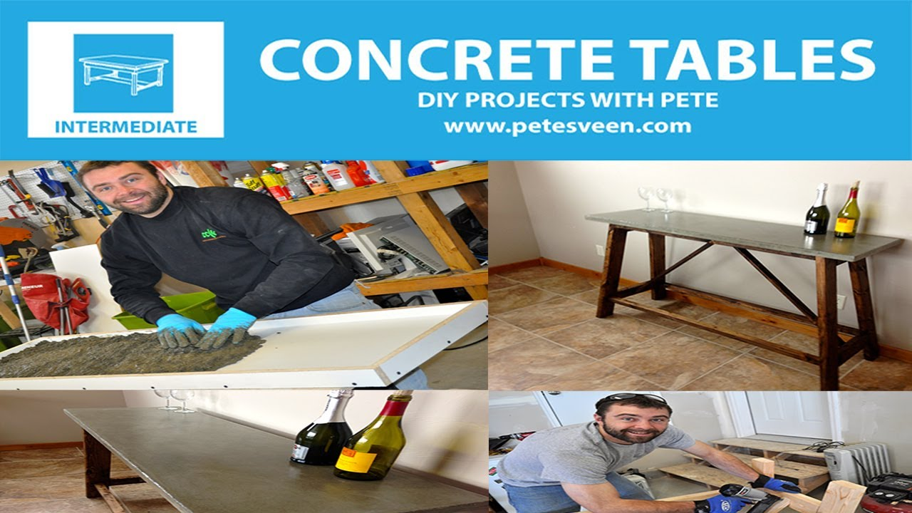 Superior How To Build A Concrete Table | Concrete Counter Top | Episode 2   YouTube