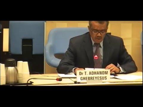 WHO Director - General candidates Forum { Dr Tedros Adhanom