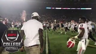 Georgia sideline erupts as Bulldogs score TD to win the 2018 Rose Bowl | ESPN