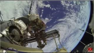 satellite repair on space