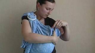Инструкция к слингу с кольцами Колыбель 2/10  www.MamaMia.by(Часть 1. Как заправить слинг в кольца, как одеть слинг. Часть 2.