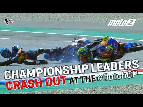 Lorenzo Baldassarri takes out Moto2™ Championship leader, Alex Marquez   MotoGP™ 2019 #DutchGP