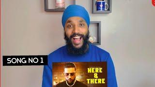Here & There - Karan Aujla | B.T.F.U | REACTION