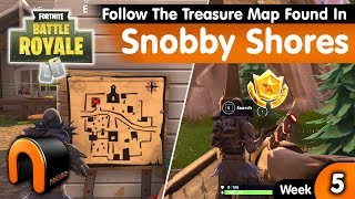 FORTNITE Follow The Treasure Map Found In Snobby Shores - Snobby Shores Map Location