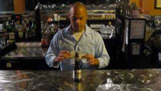 Bar Tricks 101 - Coins on Bottle bar magic trick - S.R.O Nightclub, Sudbury, Ont