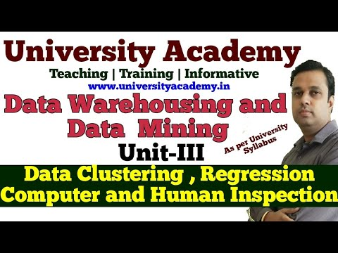 DWM18:Noisy Data, Binning, Clustering, Regression, Computer And Human Inspection