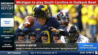 Michigan Football Bowl Preview vs South Carolina, Plus Shea Patterson Rumors