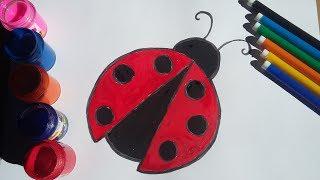 Vẽ Bọ Cánh Cam Đơn Giản - Easy Painting ladybug / Gòn Handmade