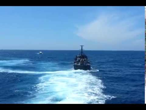 Sri Lanka Navy Dvora in action