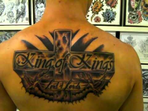 king of kings tattoo aces and eights tattoos - YouTube