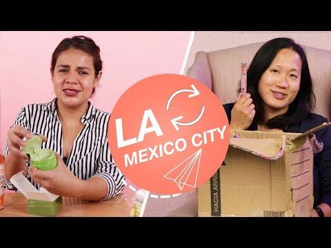 Women Swap Mystery Beauty Boxes • LA & Mexico City