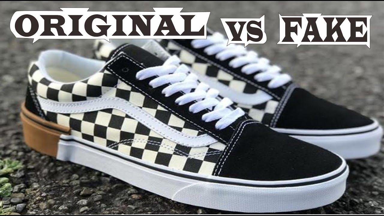 3aaf1d66965 Vans Gum Block Checkerboard Old Skool Original & Fake