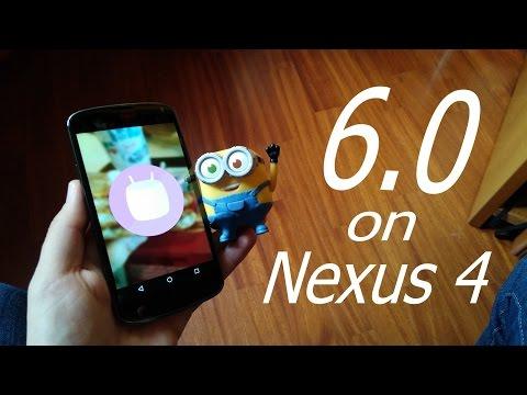 MARSHMALLOW 6.0 on Nexus 4 - Review