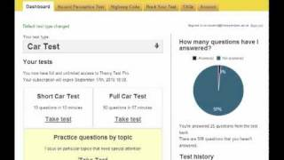 Watch a 3 minute intro to Theory Test Pro