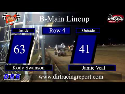 5.29.15 World of Outlaws Sprints C Main, Dash and B Main From Attica Raceway Park
