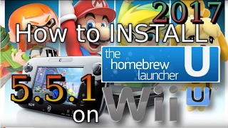 Hack WII U 2017 Install Homebrew Launcher SOFTMOD Easy, Homebrew launcher  without internet by SurfaceProGamer