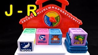 😀Go Grow Fun😀 EP40 Learning Alphabet & Words with Talking Block (J to R)