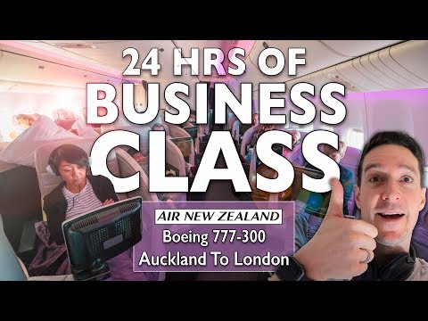 24 HOURS Of BUSINESS CLASS! Air New Zealand NZ2 Auckland To London | Boeing 777-300