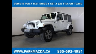 WHITE 2016 Jeep Wrangler Unlimited  Review Sherwood Park Alberta - Park Mazda
