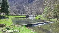 Ariège Pyrénées,Etang de Bethmale,lac aux truites dans le Couserans.
