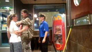 Mcdonalds employee argues with white trash woman