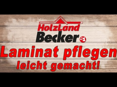 laminat pflegen laminat pflege tipps von holzland becker youtube. Black Bedroom Furniture Sets. Home Design Ideas