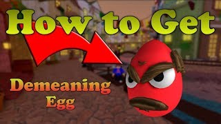 How to get the Demeaning Egg | Roblox Egg Hunt 2018