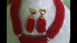 the tutorial on how to make this beautiful red beads