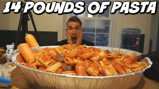 MONSTER PASTA CHALLENGE! 6.4KG |1000g of CARBS | VEGAN FOOD CHALLENGE! The Ultimate Cheat meal!