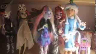 Мультик про кукол Монстр хай Новый год!!! Видео Ники!!!(, 2014-02-03T07:41:35.000Z)