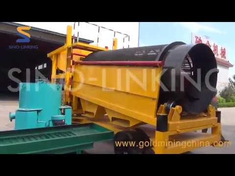 SLK-MGT50 mobile gold trommel wash plant test running
