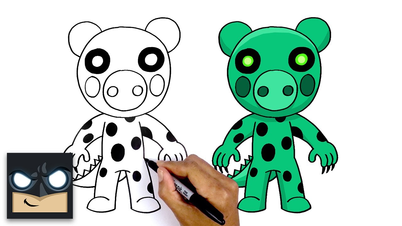 Roblox Drawing Piggy Images Roblox How To Draw Dino Piggy Roblox Youtube